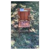 Vintage Wood Folding Chair