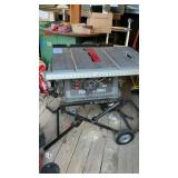 Porter Cable Fold Up Table Saw PCB220TS 5000 RPM