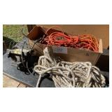 Box Of Extension Cords Drop Light Rope Shop Light