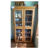 "Curio Glass Cabinet  Approx 36""x14""x72"" Tall"