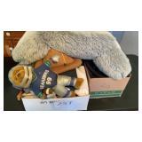 Misc Fabric Boxes  Denim Dolls Heated Mats Etc