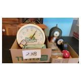 2 Boxes Of Misc Clocks Etc