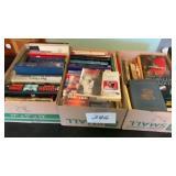 3 Boxes Of Books Tom Clancy  Dean Koontz  John