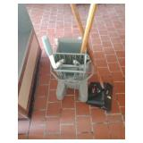 Industrial Mop, Mop bucket, & Dust Pan