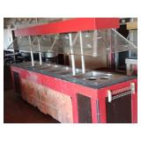 lighted hot food warmer 8 stations