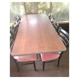 Table & 6 Metal Chairs