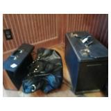 File lock case black file case and a black duffel