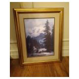 Animal Prints and Mountain Scene Print