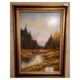 River Scene Oil Painting