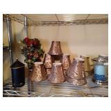 Small Lampshades with Leaf print (9), small lamp