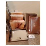 Brass paper holder, key lock box, Coco Bueno