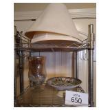 Pionex China Pedestal Bowl made in Japan, Glass