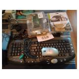 eMachines keyboard with mouse, computer speakers,