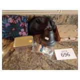 Makeup bags, soap petals, oil rubbed bronze