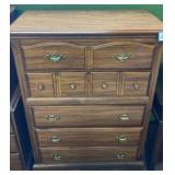 Oak Finished Chest of Drawers