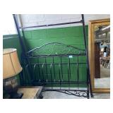 Double Metal Sleigh Bed Frame w/ Headboard &