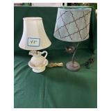 (2) Pitcher Lamp & Nest Lamp