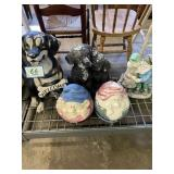 Large Lawn/Garden Ornaments: Dogs, Gnomes,