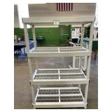 Plastic 4 Shelf Unit