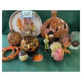 Fall/Pumpkin Items: Witch Figure, Clown, Turkeys,