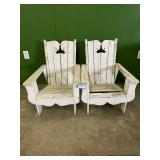 (2) Small Wooden Adirondack Style Chairs