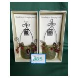 (2) Standing or Hanging Votive Holders
