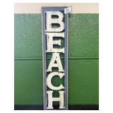 Wooden BEACH Sign