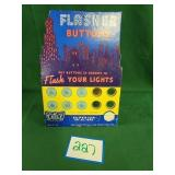 Vintage Flasher Buttons Store Display