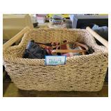 Basket & Assorted Purses