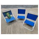 (3) Beach Chairs & Umbrella Clamp