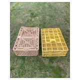(2) Plastic Poultry Crates