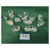 (10) Lead Crystal Figures