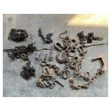 Assorted Chain, Hooks, and Tractor Pins