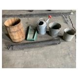 Assorted Galvanized Buckets,Water Can,Rain Gutter