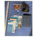 (1)Leather Rivet Press,(1)John Deere Farm Book