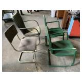 (3)Metal Porch Chairs & Side Chair
