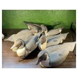 (6)Pintail Cork Body Duck Decoys w/some weights