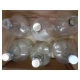 (6) 3 Liter Glass Jugs