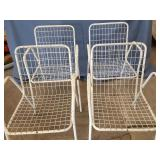 (4)Metal Wire Chairs