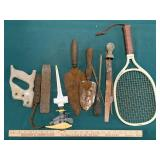 Assorted Electrical Outlets, Garden Trowels, Tools