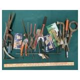Assorted Wrenches, Shears, and Tools