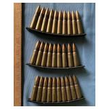(3) Clips of unknown caliber ammunition
