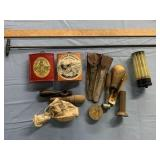 Assorted Reloading Items. Powder Cans, Cleaning