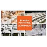 Catering & Party Rental Assets Online Auction.