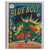 NOVELTY PRESS BLUE BOLT #8 GOLDEN AGE