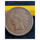 1909 S Indian Head Penny