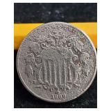 1869  5 cent piece