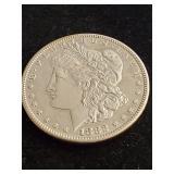 1882 S Morgan Silver Dollar Unc