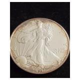 1997 Silver Eagle Silver Dollar