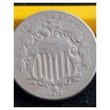 1872  5 Cent Piece